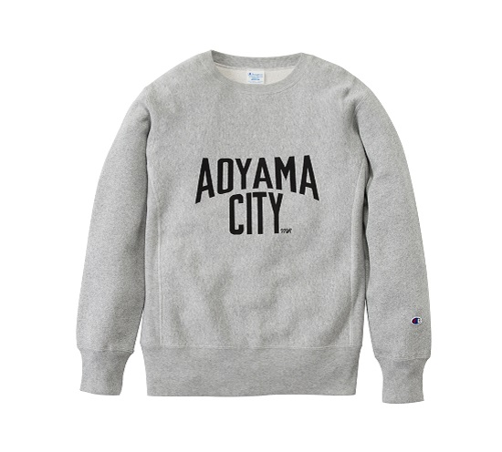・AOYAMA CITY・ CHAMPION CREW-NECK SWEAT GREY.jpeg